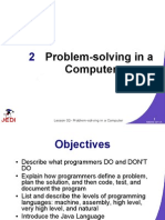 Lesson 2 - Problem Solving in a Computer