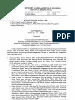 SE-50-PJ-2011 Penegasan Saat Terutang Dan Buat Faktur Pajak