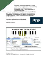 A continuación las escalas del piano en todas las tonalidades y modos