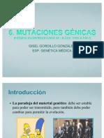 3.1. Mutaciones Génicas