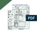 Planos de Casa en 120m2 Con Doble Altura