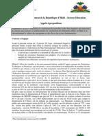 CIRH—Gouvernement de la République d'Haïti – Secteur Education