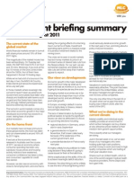 Investment Briefing Summary Aug 2011 (1) Copy