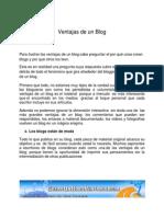 Ventajas de Un Blog