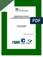 Informe del Desempeño de la CNDH ante las quejas sobre la PGJ