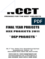 NCCT-2011-2012 IEEE Projects List-DSP Project Titles