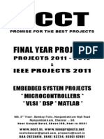NCCT-2011-2012 IEEE Projects List-Embedded,Electrical,Power VLSI DSP Project Titles
