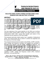 NCCT-2011 IEEE Power Electronics Project Abstracts, 2011-12