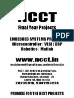 NCCT-Microcontroller Project Titles, 2011