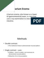 Barium Enema