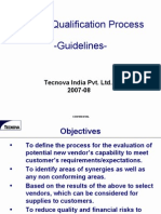 Vendor Qualification Process