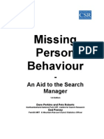 Missing Person Behaviour Handbook June 2003