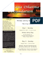 Hindu Unity Day - August 2011 - Newsletter