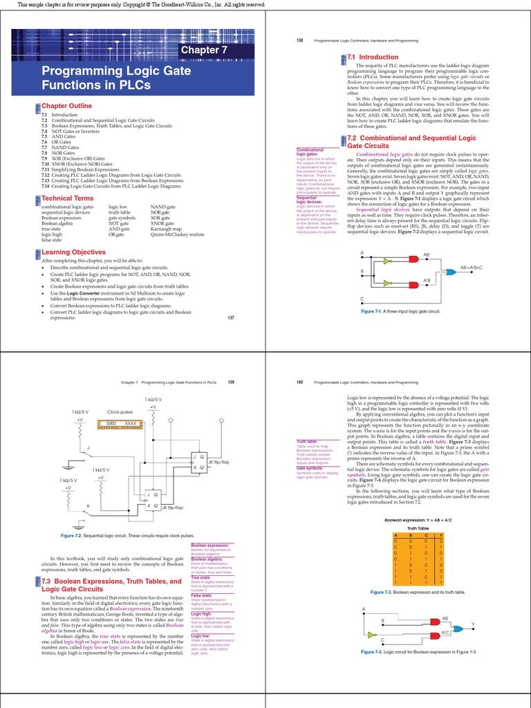 Logic Gates Programming in PLC | Programmable Logic Controller ...