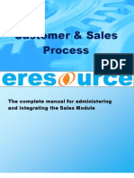 Customer and Sales Module in Eresource ERP