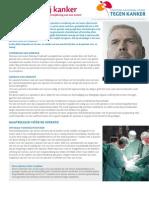 Chirurgie bij kanker,voor- en nadelen van operatieve verwijdering van een tumor