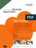 Cultural Diversity Quest 2012 - Flyer