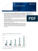Standard Bank Monthly Market Barometer - July 2011
