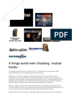 4 Thngs Avoid Wen Choosing Mutual Funds