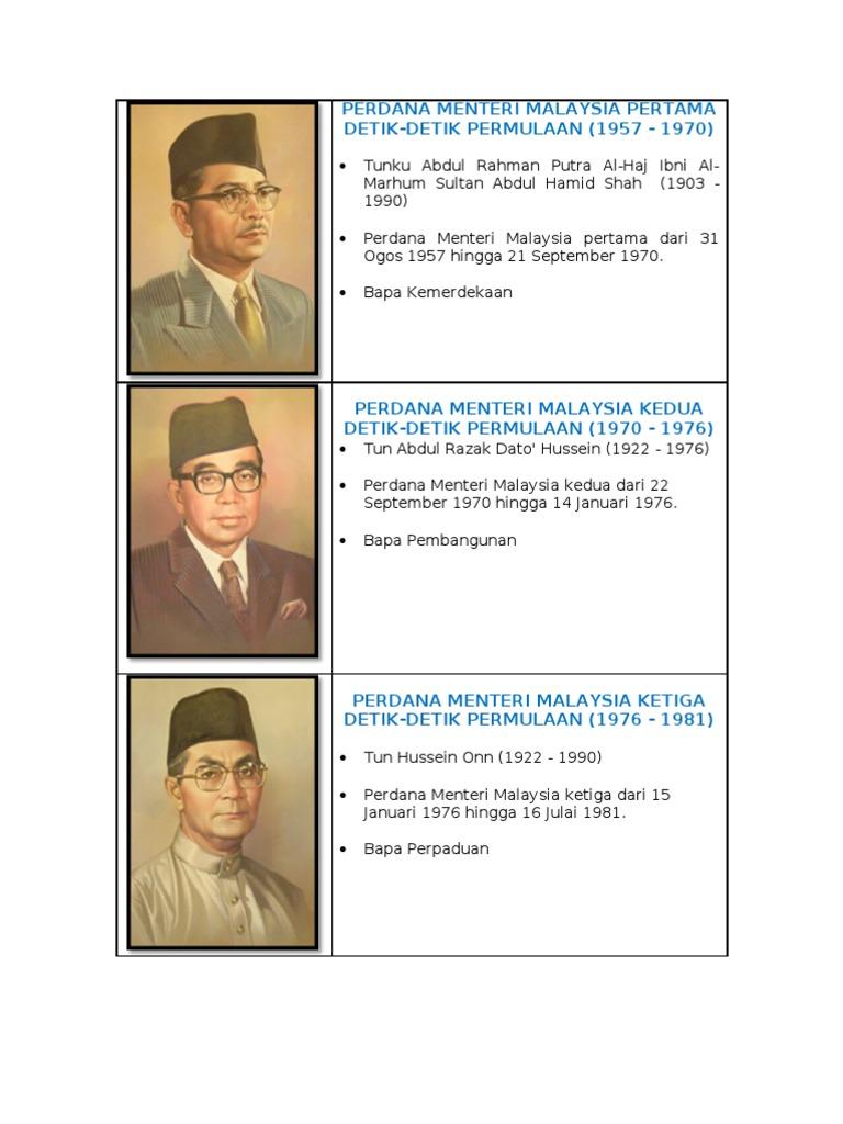 Perdana Menteri Malaysia Yang Kedua