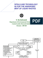 Fundamentals and Technology Options for the Anaerobic Treatment of Liquid Wastes