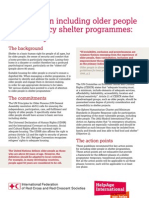 Guidance on Including Older People in Emergency Shelter Programmes