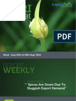 Agri Commodity Reports for the Week (16-20th August '11)