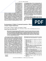 Psychotomimetic N-Methyl-N-isopropyltryptamines. Effects of Variation of Aromatic Oxygen Substituents
