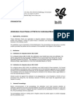 Arbitration Rules for Individual Members 06