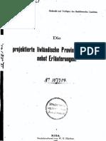 Die projektierte livländische Provinzialverfassung nebst Erläuterungen
