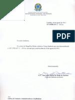 Ofício 8/11 do Gabinete do Reitor da UFPR, cancelando o anterior, que pedia os nomes dos servidores em greve