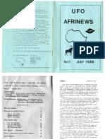 UFO AFRINEWS #1 - 1988-7 (July, 1988).