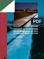 Etanchéité par géomembranes des ouvrages pour les eaux de ruissellement routier