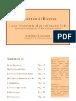 Italia Economia Al Giro Di Boa Del 2011