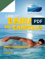 POSTER · ALICANTE A NADO 2011 · BAHIA DEL CAMPELLO
