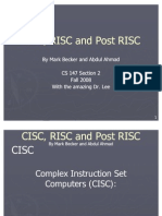 CISC RISC and Post RISC Mark Becker and Abdul Ahmad v2(2)