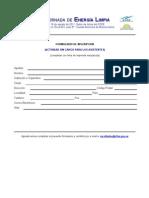 Formulario de Inscripción Jornada Energía Limpia
