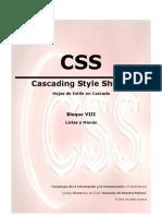 08 CSS - Listas y Menus