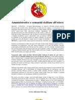 Amministrative e comunità siciliane all'estero