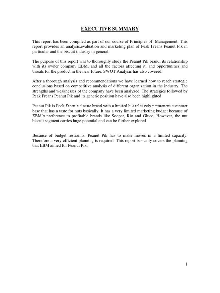 Peanut Pik Report1 | Strategic Management | Brand