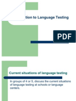 Introduction to Language Testing