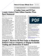 August 16, 2011 - The Federal Crimes Watch Daily