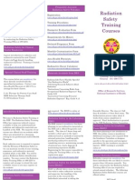 Radiation Training Brochure