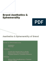 Brand Aesthetics Ephemerality