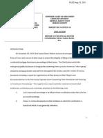 Report of the Special Master Regarding Wells Fargo