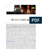 The London Riots & Other News