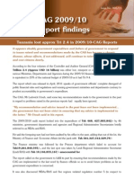CAG 2009/10 Report findings