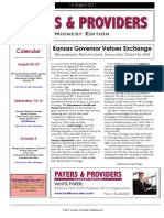Payers & Providers Midwest Edition – Issue of August 16, 2011