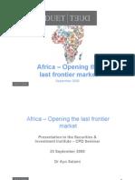 Abriendo las fronteras del último mercado
