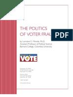 Politics of Voter Fraud Final